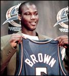 Kwame Brown was selected first overall and was a bust